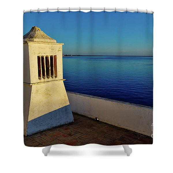 Mediterranean Chimney II. Portugal Shower Curtain