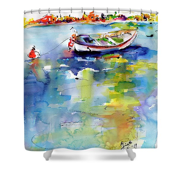 Mediterranean Impressions Boat Shower Curtain