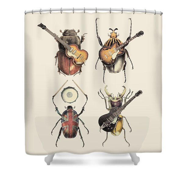 Meet The Beetles Shower Curtain