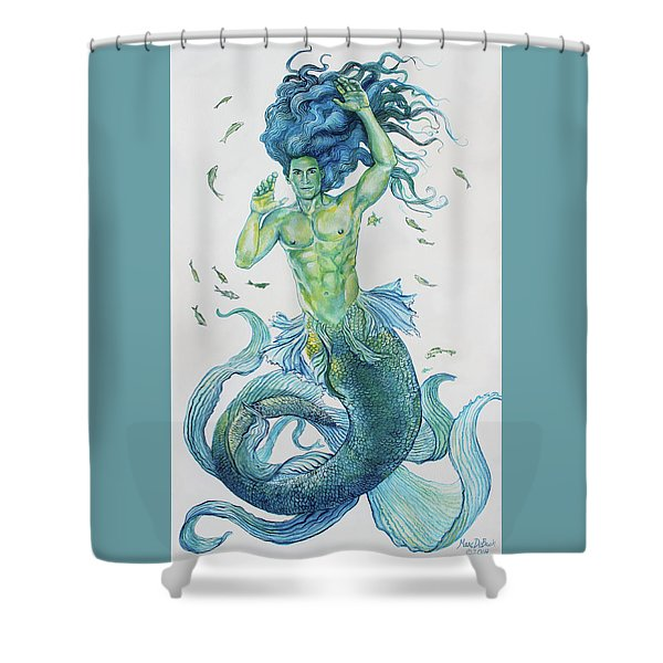 Merman Clyde Shower Curtain