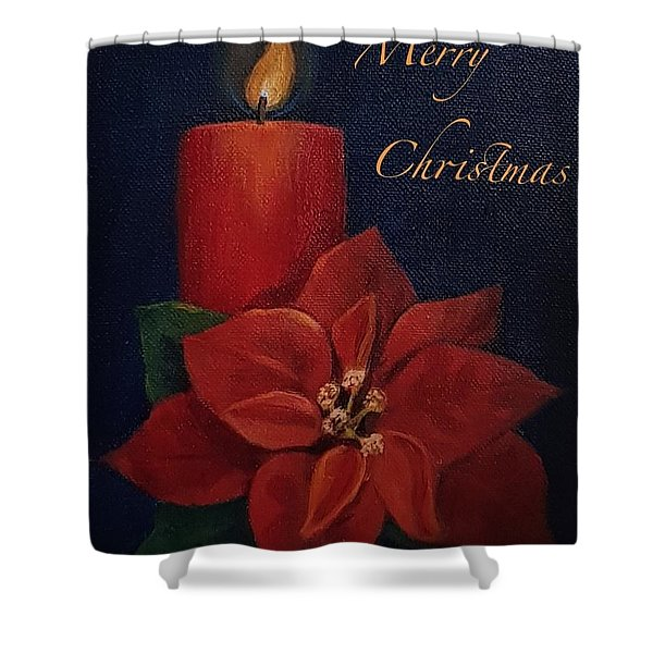 Shower Curtain featuring the painting Merry Christmas by Genevieve Brown