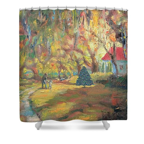 Merry Little Christmas Shower Curtain