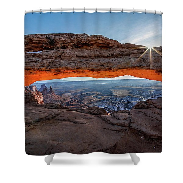Mesa Arch Sunrise 2017 Shower Curtain