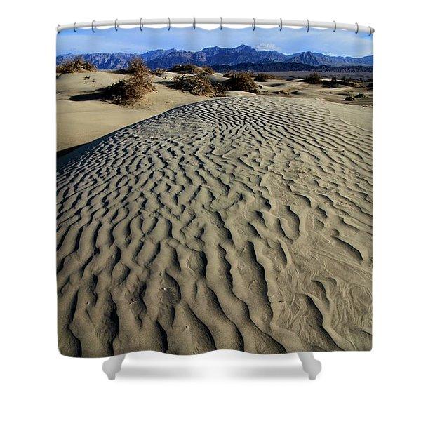 Mesquite Flat Sand Dunes Grapevine Mountains Shower Curtain