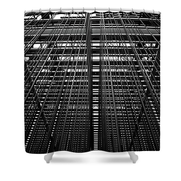 Metal Lines Shower Curtain
