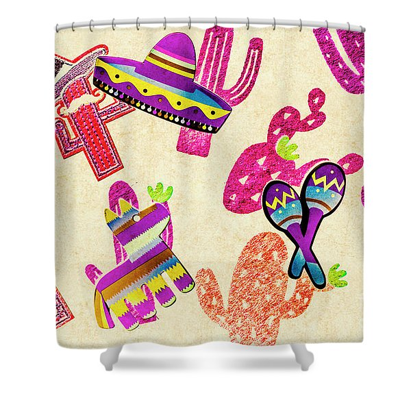 Mexican Mural Shower Curtain