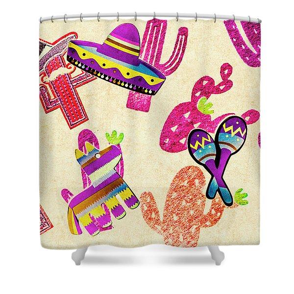 Mexican Mural Shower Curtain