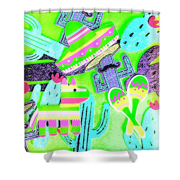 Mexicana Mixup Shower Curtain