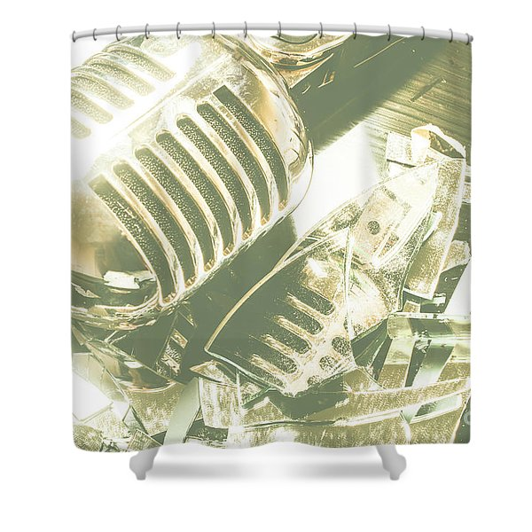 Mic Drop Shower Curtain