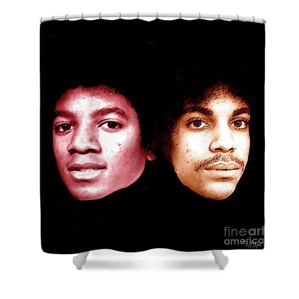 Michael And Prince Just Before They Blew Up Shower Curtain