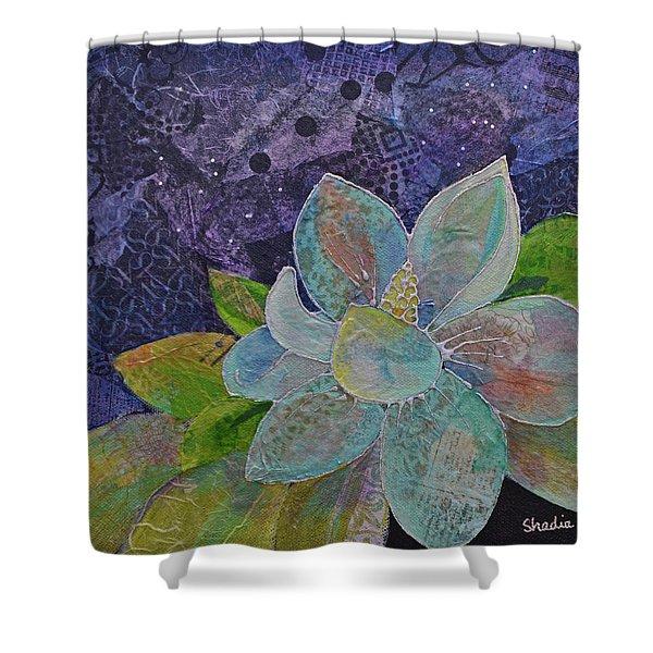 Midnight Magnolia II Shower Curtain