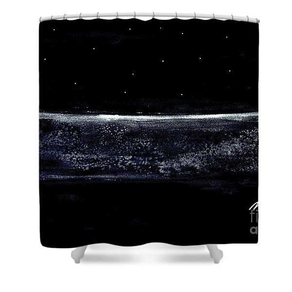 Midnight Ocean Shower Curtain