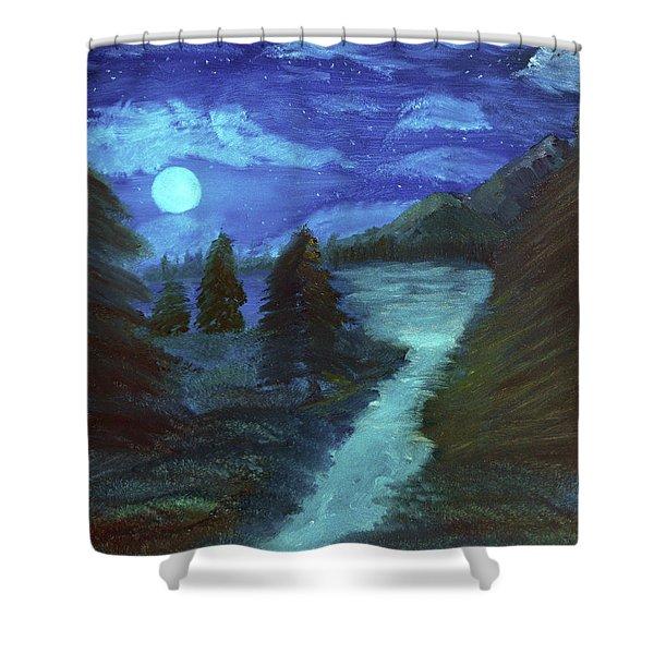 Midnight River Shower Curtain