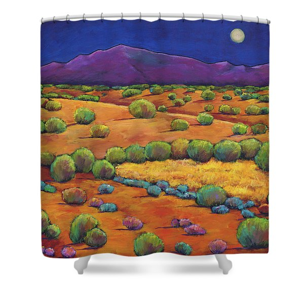 Midnight Sagebrush Shower Curtain