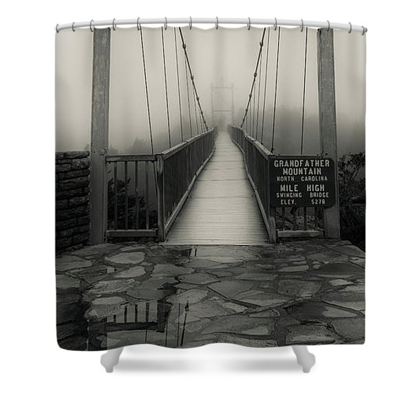 Mile High Swinging Bridge - Grandfather Mountain Shower Curtain
