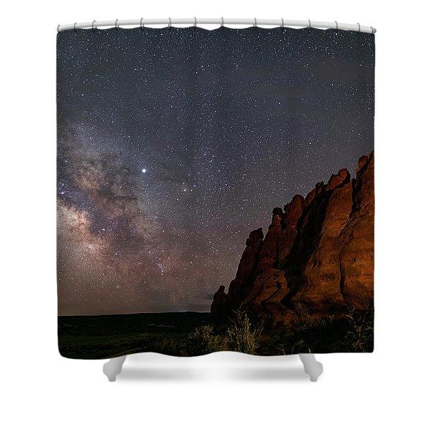 Milky Way At Navajo Rocks 2 Shower Curtain