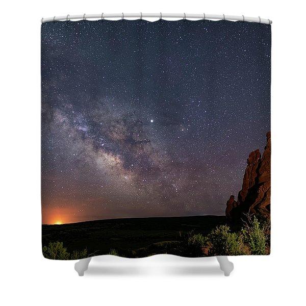 Milky Way At Navajo Rocks Shower Curtain