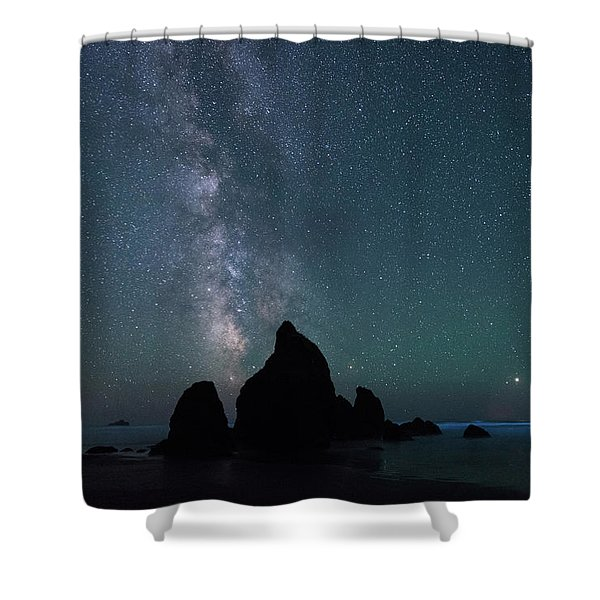 Milky Way At Ruby Beach, Olympic National Park Shower Curtain