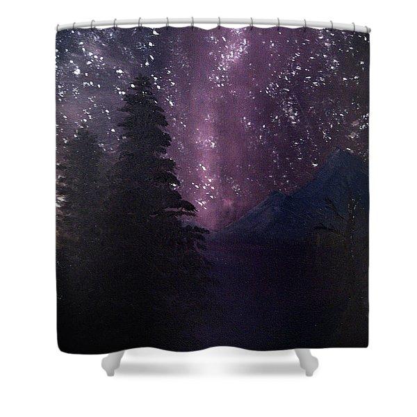 Milky Way Lake Shower Curtain