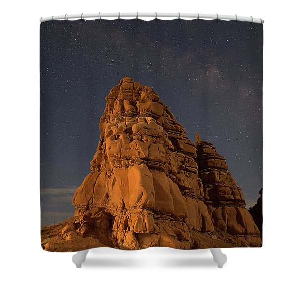 Milky Way On The Rocks Shower Curtain