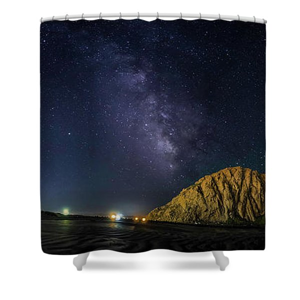 Milky Way Over Morro Rock Shower Curtain