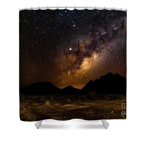 Milkyway Over Spitzkoppe 2, Namibia Shower Curtain