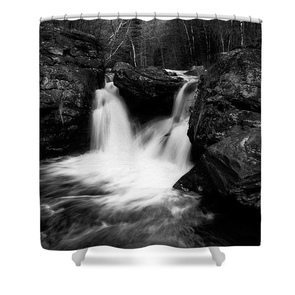 Shower Curtain featuring the photograph Mill Falls Monochrome by Wayne King