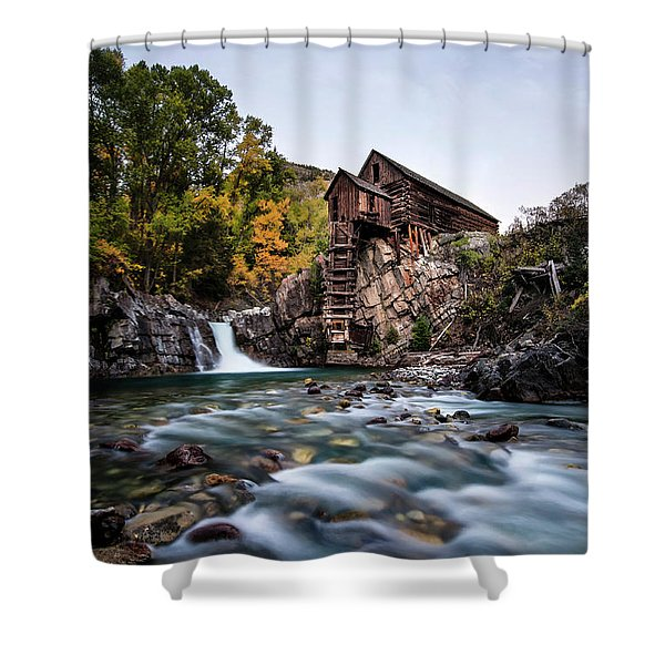 Mill On Crystal River Shower Curtain