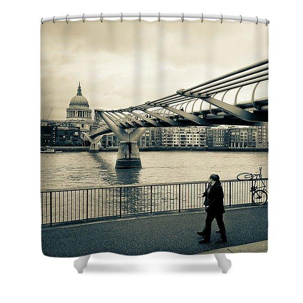 Millennium Bridge 03 Shower Curtain