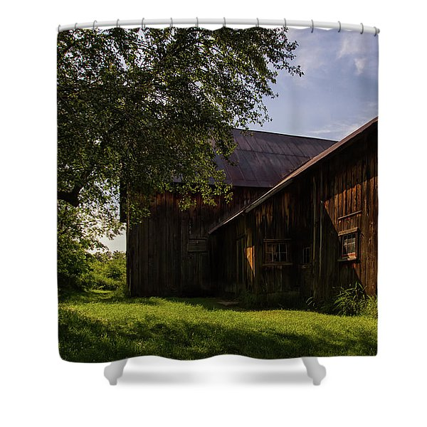 Shower Curtain featuring the photograph Miller Barn 1 by Heather Kenward