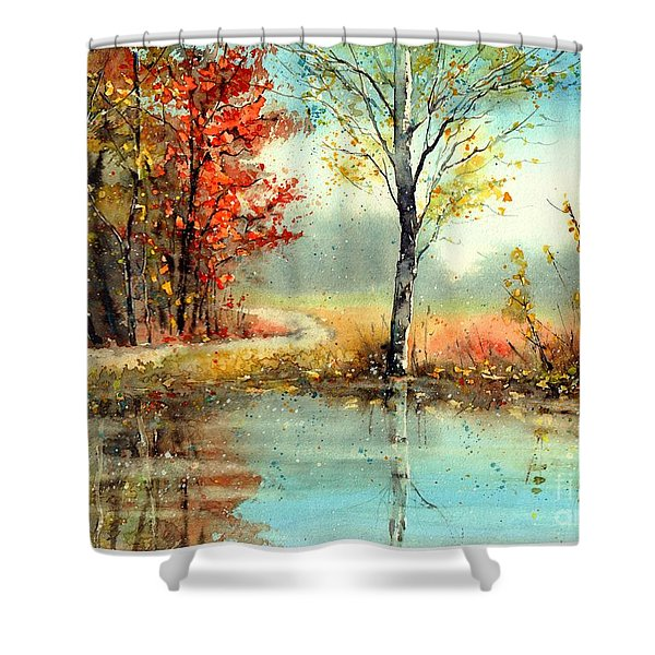 Mirror In The Lake Shower Curtain