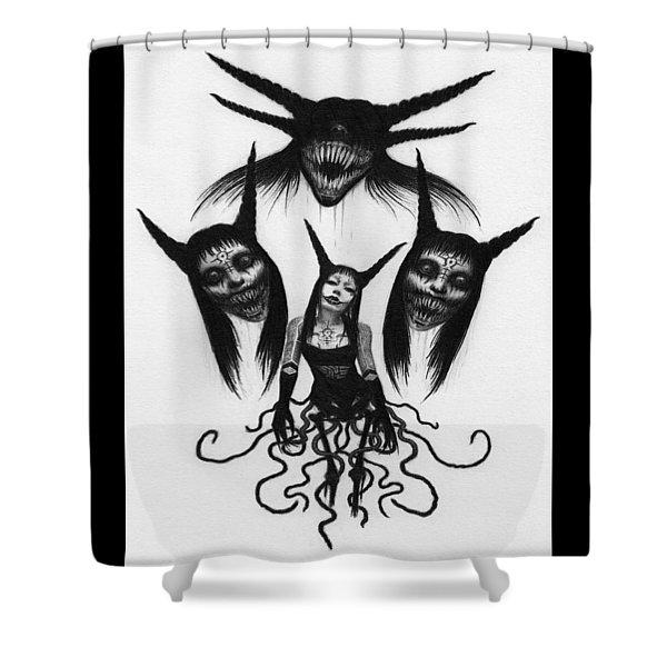 Miss Carnivorous - Artwork Shower Curtain