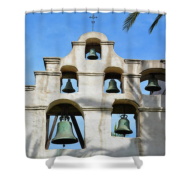 Mission San Gabriel Bells Shower Curtain