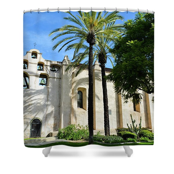 Mission San Gabriel  Shower Curtain