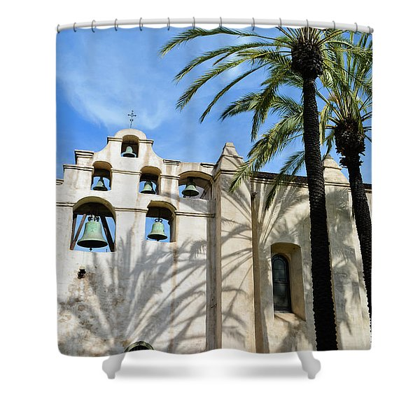 Mission San Gabriel Portrait Shower Curtain