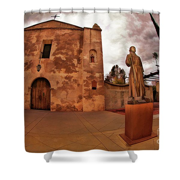 Mission San Gabriel San Gabriel Ca Shower Curtain