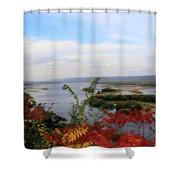 Mississippi River In The Fall Shower Curtain