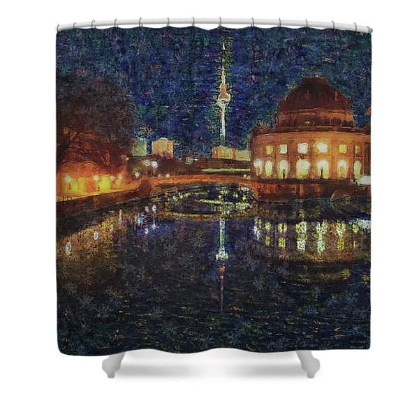 Mist Of Impressionism. Berlin. Shower Curtain