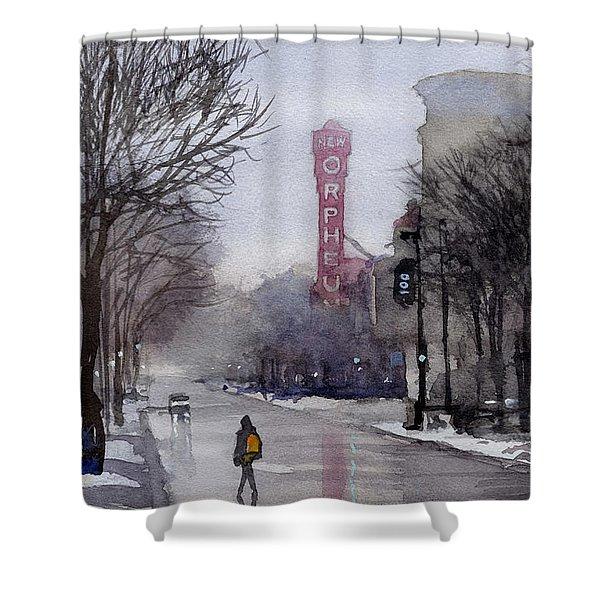 Misty Morning On Stae Street Shower Curtain