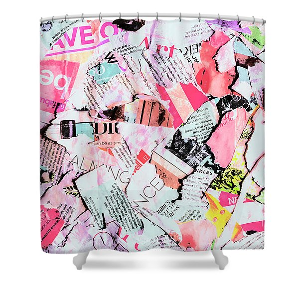 Mixed Media Messages Shower Curtain