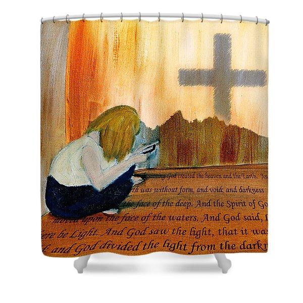 Mobile Religion Shower Curtain