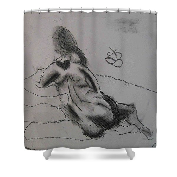 model named Chieh one Shower Curtain