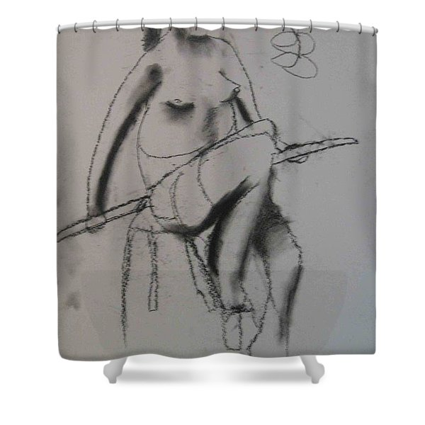 model named Chieh three Shower Curtain