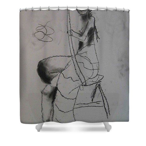 model named Chieh two Shower Curtain