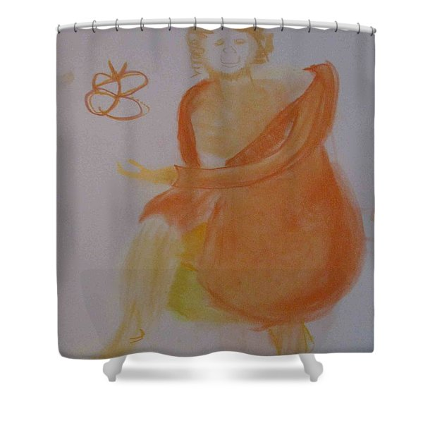 model named Helene three Shower Curtain