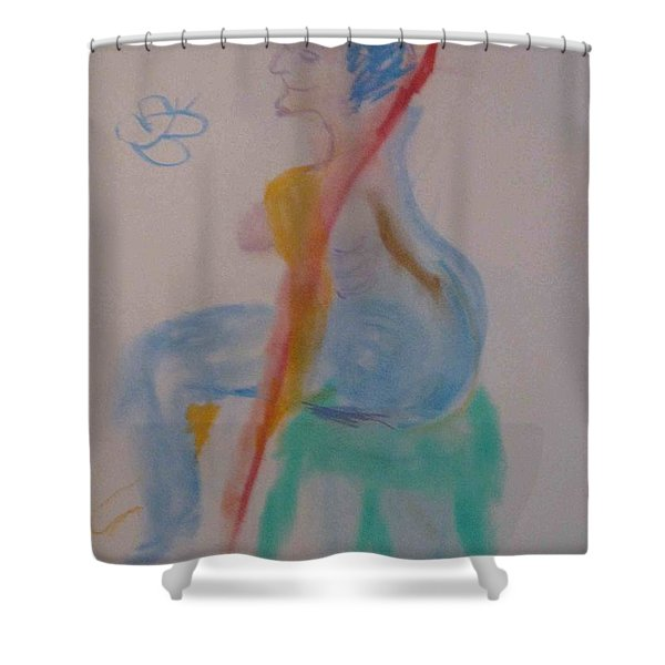model named Helene two Shower Curtain