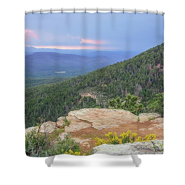 Shower Curtain featuring the photograph Mogollon Rim Sunset by Dawn Richards