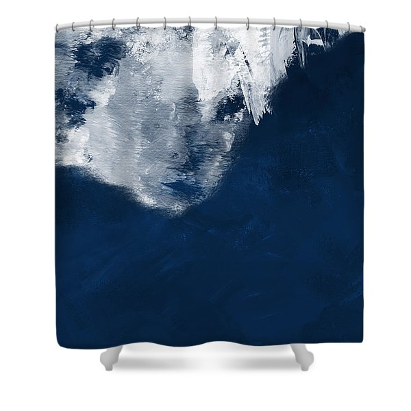 Moment In Blue- Art By Linda Woods Shower Curtain