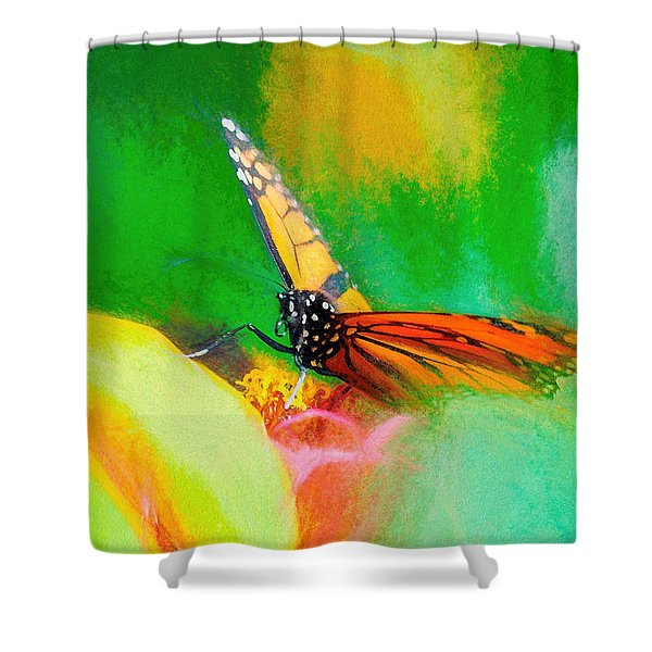 Monarch Butterfly Beautiful Smudge Shower Curtain