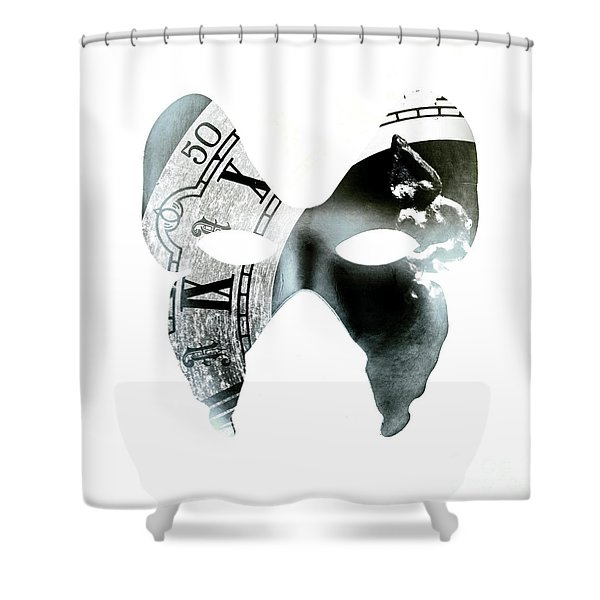 Monarchical Shower Curtain